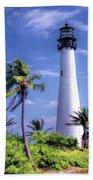 Cape Florida Lighthouse Bath Towel by Christopher Arndt