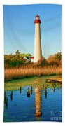 Cape May Point Lighthouse Bath Towel