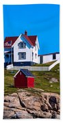 Cape Neddick Lighthouse Bath Towel