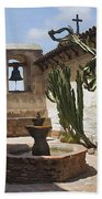 Capistrano Mission Courtyard Bath Towel