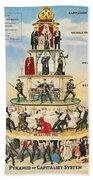 Capitalist Pyramid, 1911 - To License For Professional Use Visit Granger.com Bath Towel