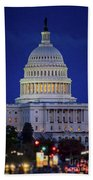 Capitol At Dusk Bath Towel