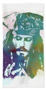 Captain Jack Sparrow Bath Towel
