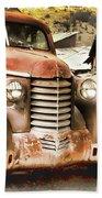 Car Full Of Memories, Ghost Town, Jerome, Arizona Bath Towel