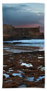 Fort In Carcavelos Beach Bath Towel