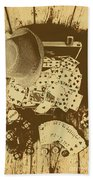Card Games And Vintage Bets Hand Towel