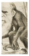 Caricature Of Charles Darwin Bath Towel