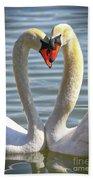 Caring Swans Bath Towel