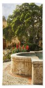 Carmel Church And Fountain Bath Towel