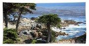 Carmel Seaside With Cypresses Bath Towel