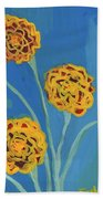 Carnations Against A Summer Sky Bath Towel