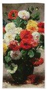 Carnations In A Vase Bath Towel