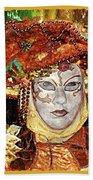 Carnivale Mask #12 Bath Towel