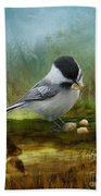 Carolina Chickadee Feeding Hand Towel