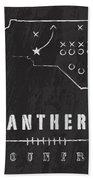 Carolina Panthers Art - Nfl Football Wall Print Hand Towel by Damon Gray