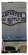 Carpenter Farm Supply Co Sign Bath Towel
