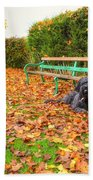 Carpet Of Leaves Bath Towel