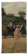 Carriage Ride By The River Bath Towel