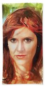 Carrie Fisher Bath Towel