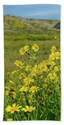 Carrizo Plain Yellow Daisies Bath Towel