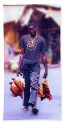 Carrying Chickens To Dakar Bath Towel