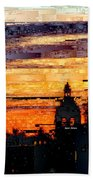 Cartagena Colombia Night Skyline Bath Towel