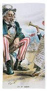 Cartoon: Uncle Sam, 1893 Bath Towel