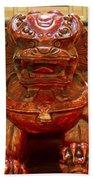 Carvings In Jade - 4 - The Red Dragon Bath Towel