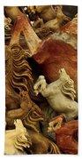 Carvings In Jade - 6 - Wild Horses  Bath Towel