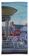 Cary Arts Center And Fountain Bath Towel