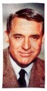 Cary Grant By John Springfield Bath Towel