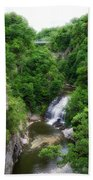 Cascadilla Waterfalls Cornell University Ithaca New York 01 Bath Towel