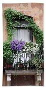 Cascading Floral Balcony Bath Towel