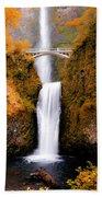 Cascading Gold Waterfall II Bath Towel