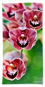 Cascading Miniature Orchids Bath Towel