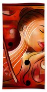 Casselopia - Violin Dream Bath Towel