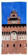 Castello Sforzesco Tower Bath Towel