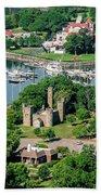 Castle At Glen Island Bath Towel