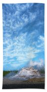 Castle Geyser Yellowstone Np Photo Painting_grk7577_05262018 Bath Towel