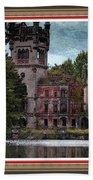 Castle Kapadia. L B With Decorative Ornate Printed Frame. Bath Towel