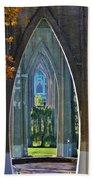 Cathedral Columns Of The St. Johns Bridge Bath Towel