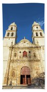 Cathedral In Campeche Bath Towel