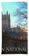 Cathedral In The Fall Travel Bath Towel