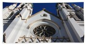 Cathedral Of St John The Babtist In Savannah Bath Towel
