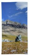 Cathedral Peak Over Waterton Valley Trail - Glacier National Park Hand Towel