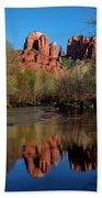 Cathedral Rock Reflection In Oak Creek Bath Towel