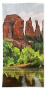 Cathedral Rocks In Crescent Moon Park Bath Towel