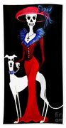 Catrina With Greyhound Hand Towel