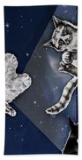 Cats In Space Bath Towel