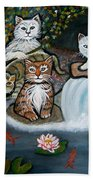 Cats In The Wild Bath Towel